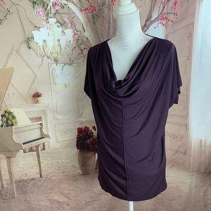 NEW ANN Taylor Purple Drape Tunic Blouse